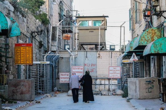 ©PAEPI/Renan Leme - CheckPoint entre H1 e H2 em Hebron