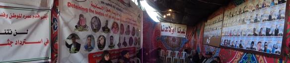 Interior da tenda em que se reunem os familiares
